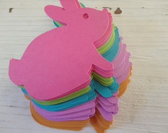 45 Bunny Tags , Easter tags