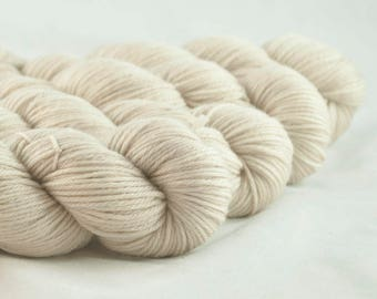 Tea for Two Beige Hand Dyed Superwash Merino DK Yarn