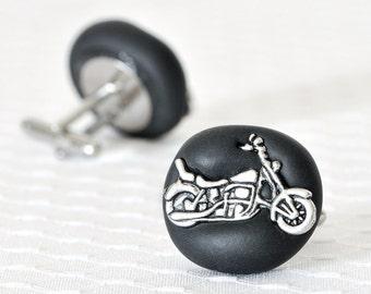 Custom Motorcycle Cufflinks Handmade Gifts. Groomsmen Wedding Gift Groom, Father of the Bride, Engagement, Boyfriend Graduation Gift for Him