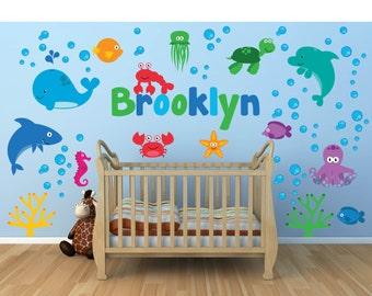Nursery Wall Decals Sea Animal Wall Decal Ocean Wall