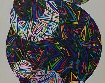 Original Abstract Art, Abstract Drawing, Geometric Art, Geometric Shapes,