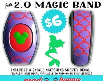 2.0 Magic Band Mermaid Scale Vinyl Color Decal Skin SOLID COLORS