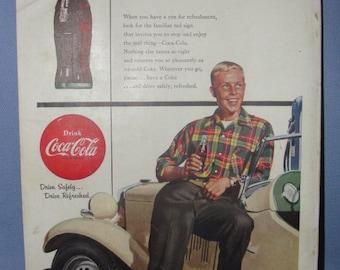 National Geographic Magazine w/Coca Cola Ad - June 1954 - SKU 1313