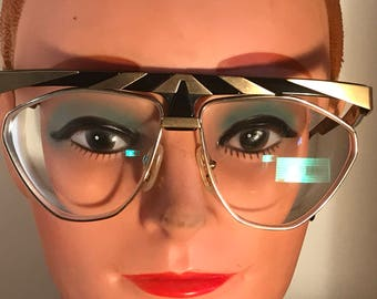 Alpina G84 project Genesis eyeglass frame black/gold