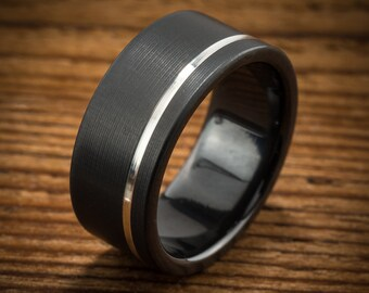 Brushed Inconel Wedding Band