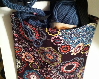 Patterned Tote, Strap Bag, Knit, Book, Market Tote back to school bag