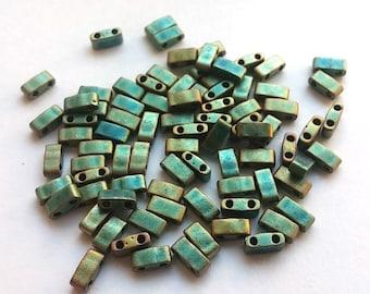 Half Tila Matte Metallic Patina Iris, HTL-2008 Miyuki, 8 grams