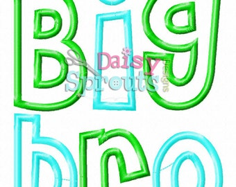Big Bro Machine Applique - Instant Download