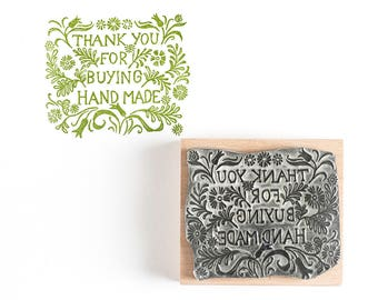 Thank You for buying Handmade Rubber Stamp