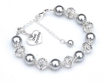 Great Grandma Gift, Great Grandma Jewelry, Greatest Grandma, Great Grandma Bracelet, Best Grandma, Gift for Her, Best Gran Present