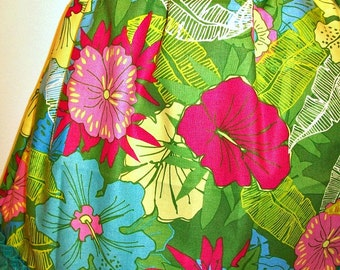 Girls ALOHA Peasant style Dress - Tropical Colors - MOLOKAI - with matching flower headband - fits Sizes 3 to 4