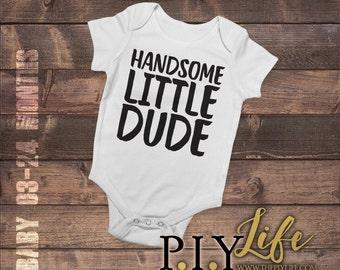 Kids   Handsome Little Dude Kids Bodysuit DTG Printing on Demand