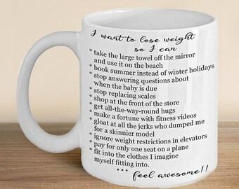 Dieting Mug, Dieting Gift, Weight Loss Gift, Diet Mug, New Year Resolution, Motivational Mug, Dieting Coffee Mug, Funny Mug, Gift for Women,