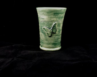 Stoneware Butterfly Cup