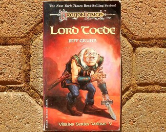 Lord Toede by Jeff Grubb Dragon Lance Saga Villains Series Volume V 1994 First Printing Vintage Paperback