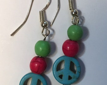 Peace Drop Earrings