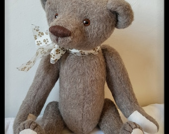 OOAK teddy bear, Clint - 15 inches,  OOAK artist teddy bear, handmade teddy bear