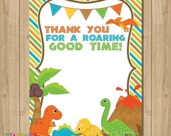 Dinosaur Thank You Card, Dino Thank you Card