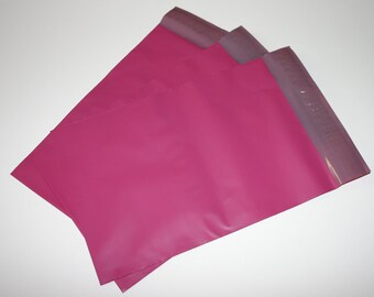 100  7.5 x 10.5 Raspberry Pink Poly Mailers  Self Sealing Envelopes Shipping Bags Easter Spring