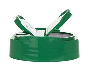 Kelly Green Mason Jar Spice Dispenser Cap for Regular Mouth Mason Jars - BPA Free with Heat Seal