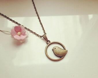 Short chain bird in the district, vintage, romantic, dreamy, animals, animals