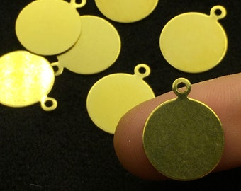 13 mm 100 pcs Raw brass Tags,findings
