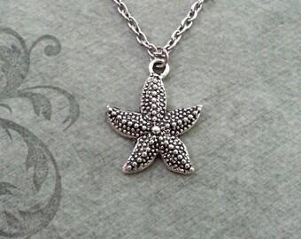 Starfish Necklace SMALL Silver Starfish Jewelry Nautical Jewelry Beach Jewelry Sea Necklace Ocean Necklace Bridesmaid Necklace Starfish Gift