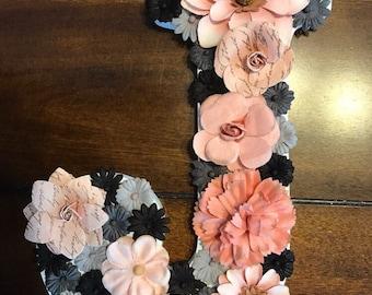 Custom Floral Monogram Letter