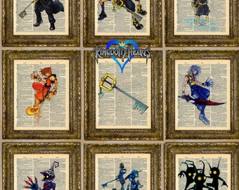 Kingdom Hearts Dictionary Art Series