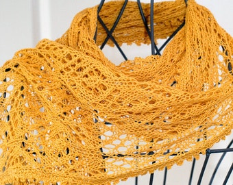 "Pattern for summer lace scarf ""Gracia"""