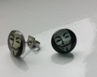 Anonymous inspired earrings