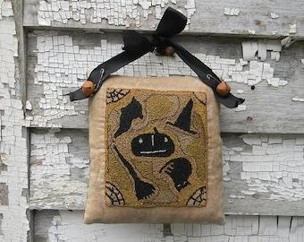 Witches Brew Punchneedle pattern by Notforgotten Farm