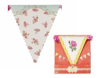 Truly Scrumptious Bunting, Tea, Garden, Vintage, Floral, Mother's Day, Theme, Party, Decoration, Supplies, Talking Tables