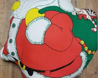 Vintage Santa Christmas Pillow