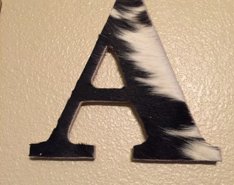 Cowhide letters