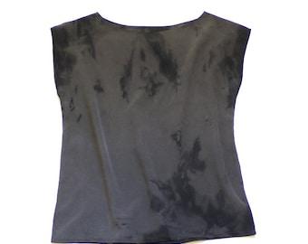 Natural Dye Silk blouse - Soot