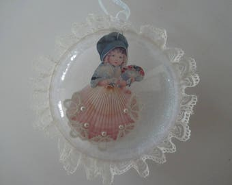 Seashell Christmas Vintage Victorian Ornament Decoration Gift Victorian Scrap Vintage Inspired Christmas Shabby Chic