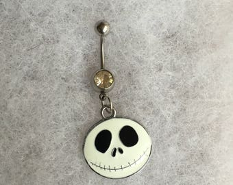 Handmade Jack Belly Button Ring