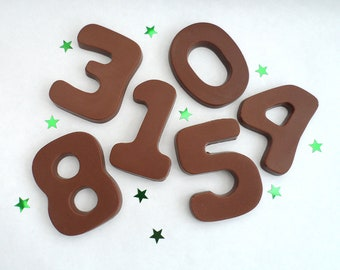 Chocolate Numbers, Chocolate Cake Toppers, 30th, 40th, 50th, 60th Birthday Gift, Number Cake Topper, Anniversary Chocolate, Gluten Free
