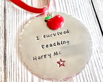 Teacher's Medal, Thank You Teacher Gift, Best Teacher