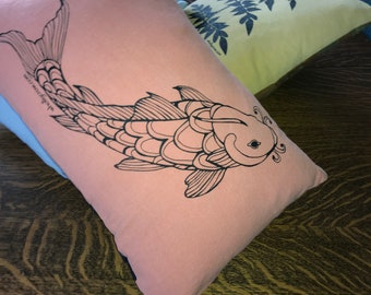 Pillow with Koi