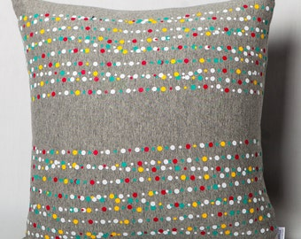Grey jersey cushion: sparkling