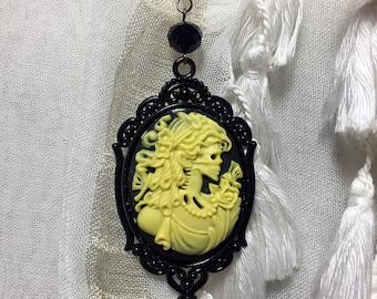 Necklace cam skeleton inspired Vampire Diaries