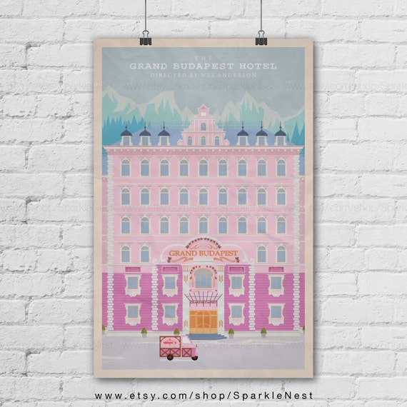 The Grand Budapest Hotel Art Print. Wes Anderson Films Poster. Pop Art Print. Pop Culture And Modern Home Decor Poster. Item No. 154 by Etsy
