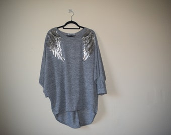 Grey Applique Sweatshirt