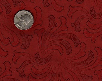 "Quilters 1/4 (18"" x 22"") Jinny Beyer Terra Cotta Orange Firework Splash RJR Vintage Fabric"