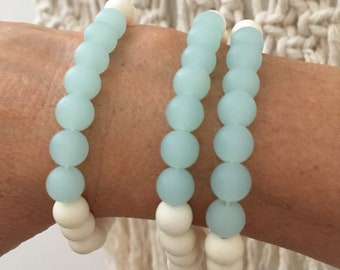 sea glass jewelry , beachcomber beach bracelet