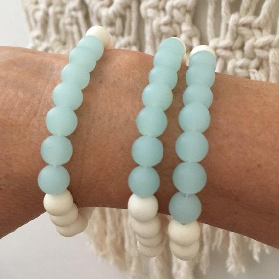 sea glass jewelry , beachcomber beach bracelet