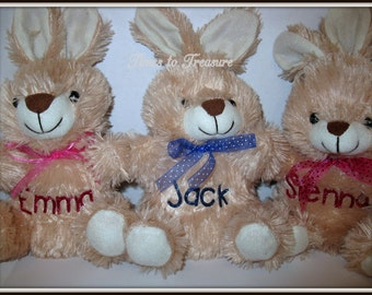 Stuffed Bunny Easter Bunnies  Personalized Bunny Easter Baskets