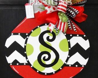 Personalized Christmas Ornament door hanger